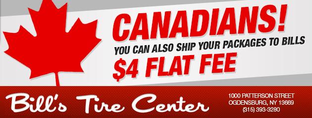 Canadians $4 Flat Fee!