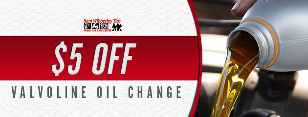 $5 Off Valvoline Oil Change
