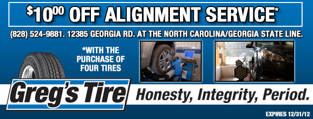 $10 Off Alignment Service