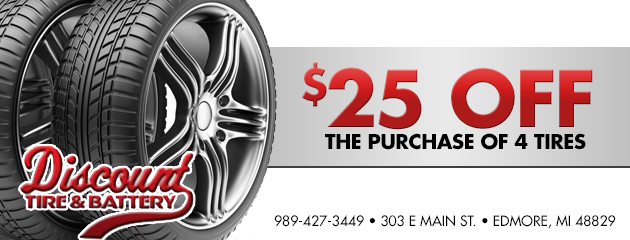$25 Off the purchase of 4 tires