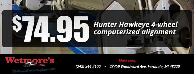 Hunter Hawkeye 4-wheel computerized alignment