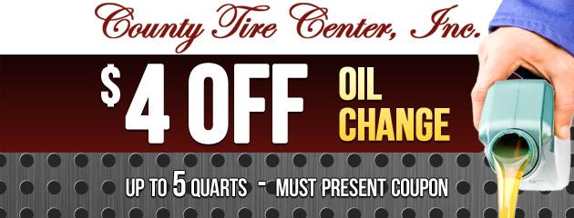 $4 OFF Oil Change