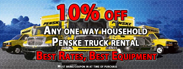 10% off penske truck rental