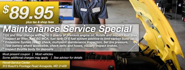Maintenance Service Special