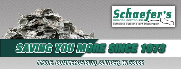 Schaefers Service Center Savings