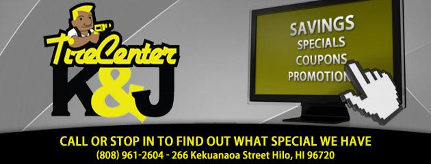 K and J Tire Center Savings