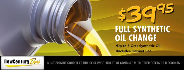 Full Syntehtic Oil Change