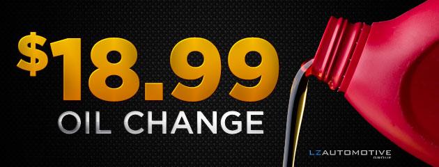 $18.00 Oil Change