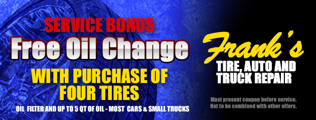 Free Oil Change With Purchase of Four Tires