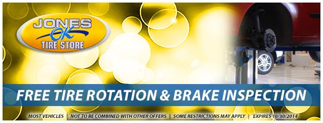 Free Tire Rotation & Brake Inspection