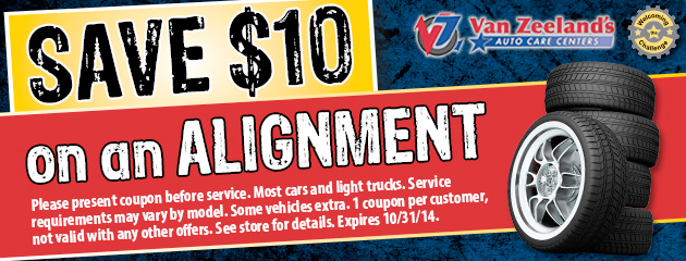 Save $10 on alignment