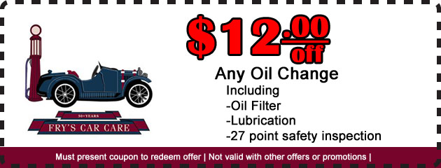 $12 off Oil Change