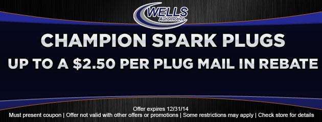 Champion Spark Plug Rebate