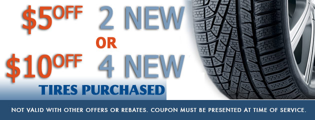 $10/$20 off new tires
