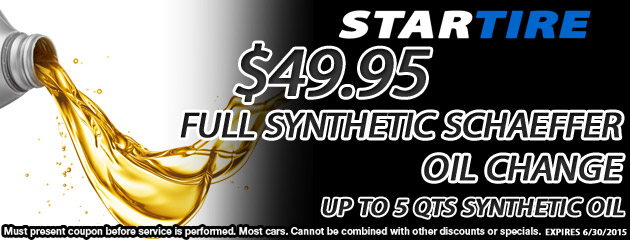 $49.95 Full Synthetic Oil