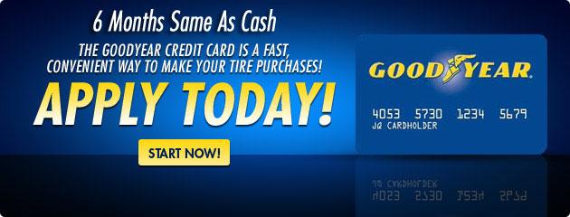 Goodyear Credit Card 6 Months Same As Cash