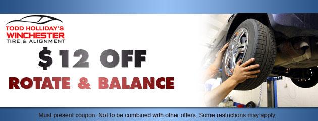 $12 OFF Rotate & Balance