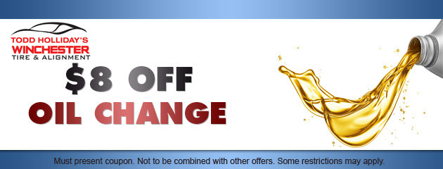 $8 OFF oil change