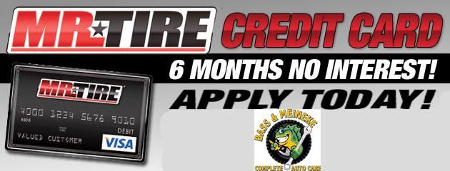 Mr. Tire Credit Card