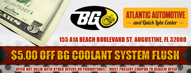 $5 Off Coolant System Flush