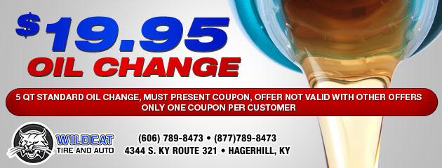 $19.95 Oil Change