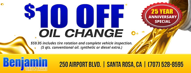 Oil Change for $10 Off