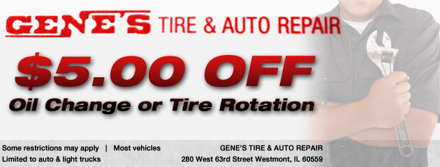$5 Off Oil Change or Tire Rotation