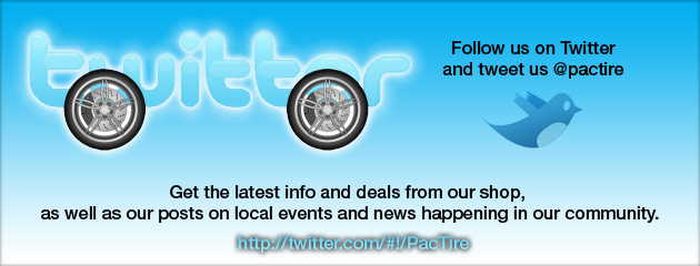 Follow us on Twitter Pacific Tire Outlet