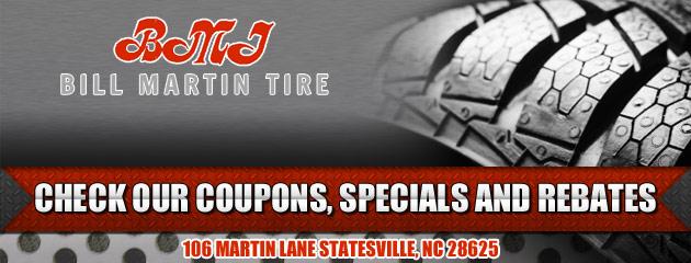 Bill Martin Tire Savings