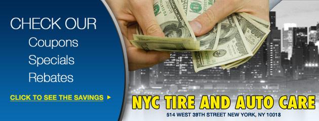 NYC Tire and Auto Care Savings