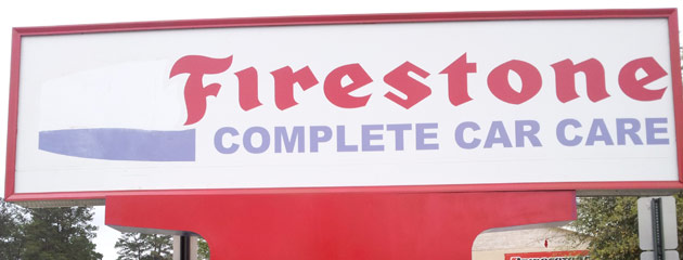 Cypress Firestone Sign
