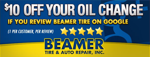 $10 off Oil Change with Google Review