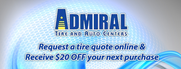 Request a Tire Quote Online, Receive $20 OFF Next Purchase