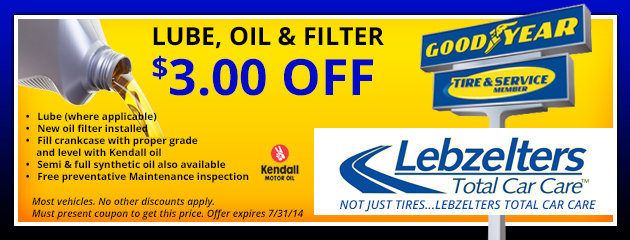 $3.00 Off Lube Oil Filter