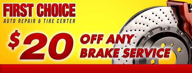 $20 Off Any Brake Service