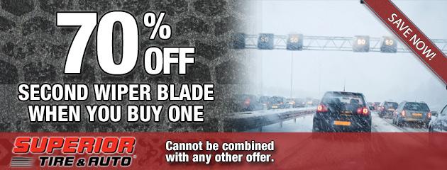 70 Percent Off Second Wiper Blade