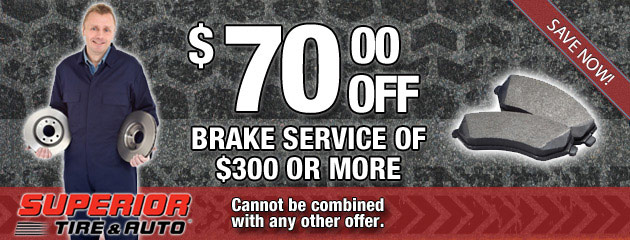 $70 Off Brake Service of $300 or More