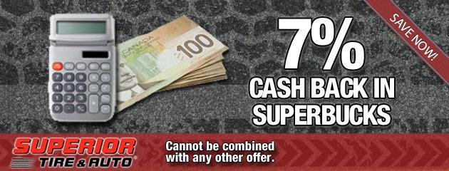7 Percent Cash Back in SuperBucks