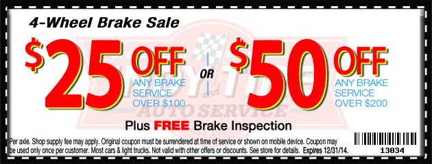 4 Wheel Brake Sale