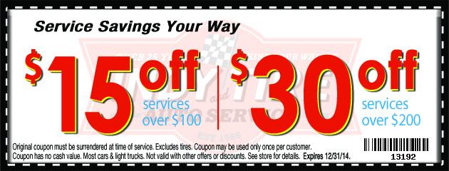 Service Savings Your Way