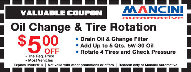 Oil Change & Tire Rotation