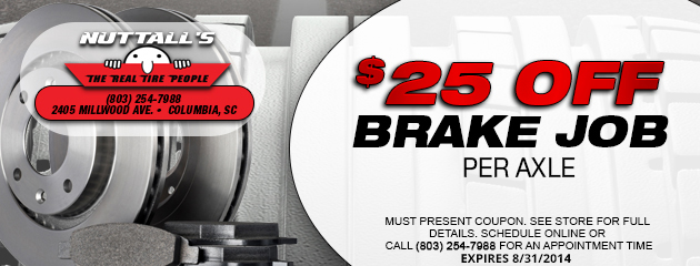 $25 off brake job per axle