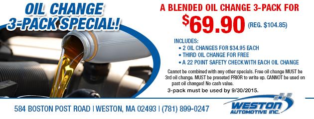 Oil Change 3-pack
