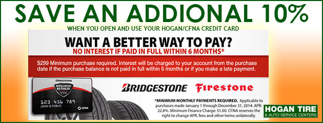 Want a better way to pay? Bridgestone Firestone CFNA