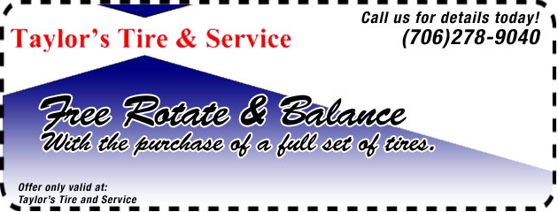 Free Rotate and Balance with 4 New Tires