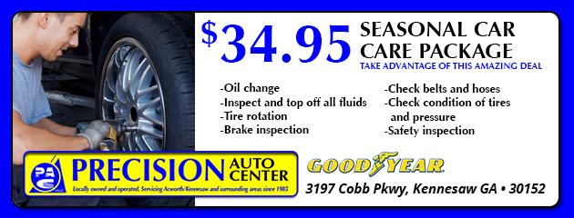 $34.95 Seasonal CarCare Pkg