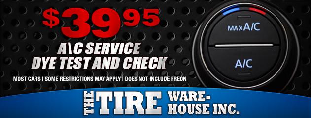 $39.95 A/C Service Dyetest