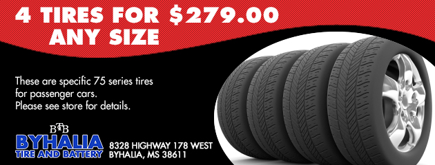 4 tires for $279.00