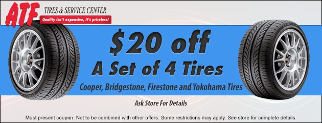 $20 off 4 tires