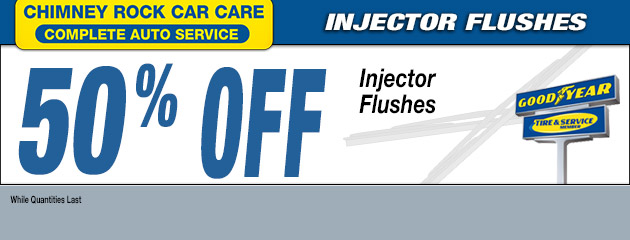 50% OFF INJECTOR FLUSHES